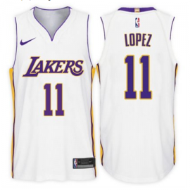 Camiseta Brook Lopez #11 Los Angeles Lakers Blanco Association Edition