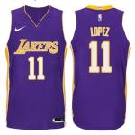Camiseta Brook Lopez #11 Los Angeles Lakers Púrpura Statement Edition
