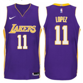 Camiseta Brook Lopez #11 Los Angeles Lakers Púrpura Statement Edition