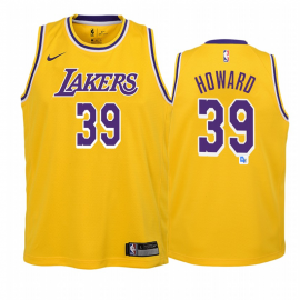 Camiseta Dwight Howard #39 Los Angeles Lakers Amarillo Icon Edition