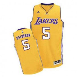 Camiseta Jose Calderon #5 Los Angeles Lakers Amarillo