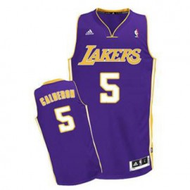 Camiseta Jose Calderon #5 Los Angeles Lakers Púrpura