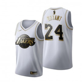 Camiseta Kobe Bryant #24 Los Angeles Lakers Blanco Gold Edition
