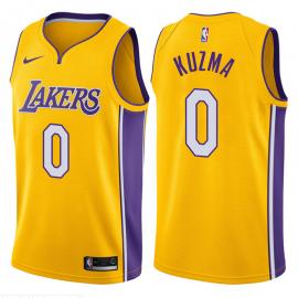 Camiseta Kyle Kuzma #0 Los Angeles Lakers Amarillo Icon Edition