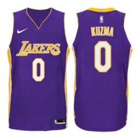 Camiseta Kyle Kuzma #0 Los Angeles Lakers Púrpura Statement Edition