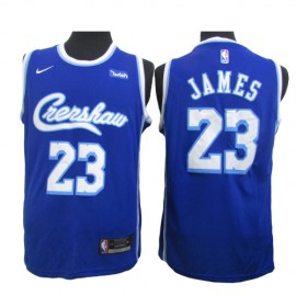 Camiseta LeBron James #23 Los Angeles Lakers Azul Joint Edition