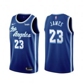 Camiseta LeBron James #23 Los Angeles Lakers Azul Latin Edition