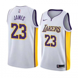 Camiseta LeBron James #23 Los Angeles Lakers Blanco Association Edition