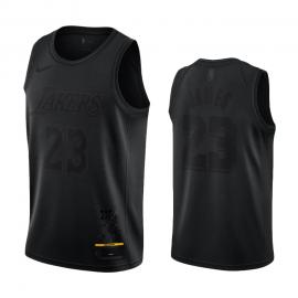 Camiseta LeBron James #23 Los Angeles Lakers Negro MVP