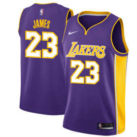 Camiseta LeBron James #23 Los Angeles Lakers Púrpura Statement Edition