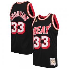Camiseta Alonzo Mourning #33 Miami Heat Negro Classic Edition