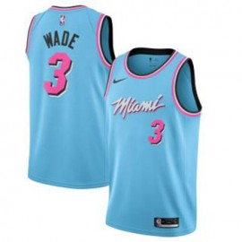 Camiseta Dwyane Wade #3 Miami Heat 2019/20 Azul City Edition