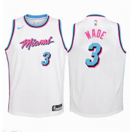 Camiseta Dwyane Wade #3 Miami Heat Blanco City Edition