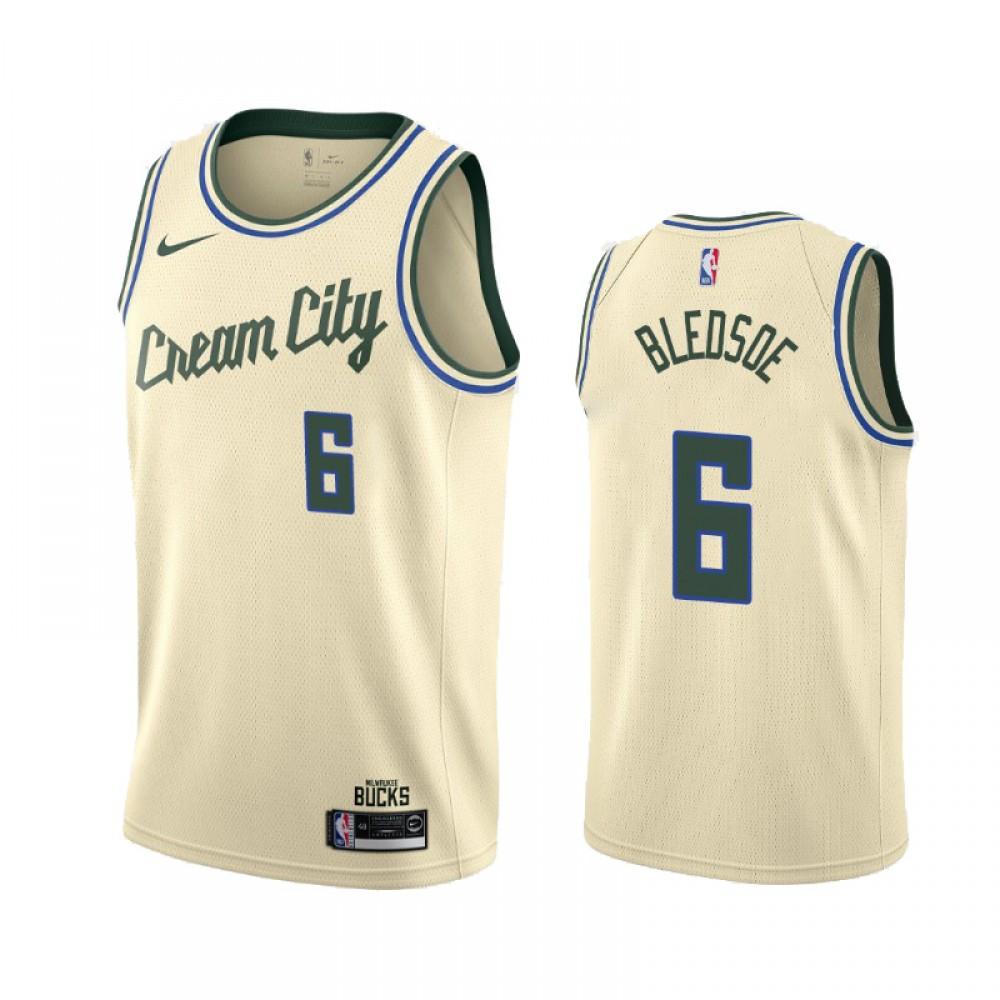 Camiseta Eric Bledsoe #6 Milwaukee Bucks 2019/20 Beige City Edition
