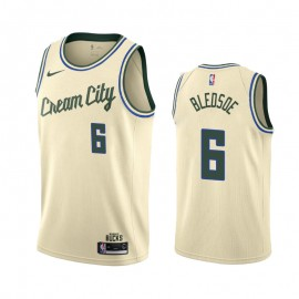 Camiseta Eric Bledsoe #6 Milwaukee Bucks 2019/20 Beige City Edition