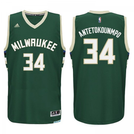 Camiseta Giannis Antetokounmpo #34 Milwaukee Bucks Verde