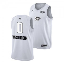 Camiseta Russell Westbrook #0 Oklahoma City Thunder All Star 2018 Blanco