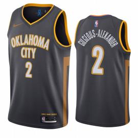 Camiseta Shai Gilgeous-Alexander #2 Oklahoma City Thunder 2019/20 Negro City Edition