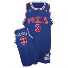 Camiseta Allen Iverson #3 Philadelphia 76ers Azul