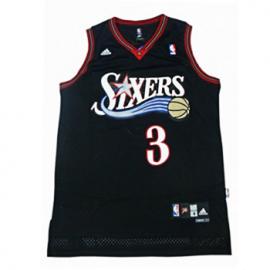 Camiseta Allen Iverson #3 Philadelphia 76ers Negro