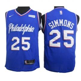 Camiseta Ben Simmons #25 Philadelphia 76ers 2020 Azul