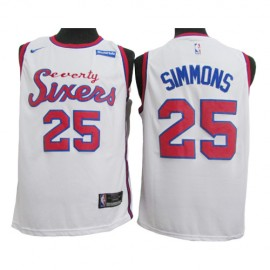 Camiseta Ben Simmons #25 Philadelphia 76ers 2020 Blanco
