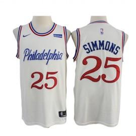 Camiseta Ben Simmons #25 Philadelphia 76ers 2020 Blanco City Edition
