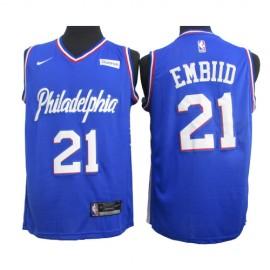 Camiseta Joel Embiid #21 Philadelphia 76ers 2020 Azul