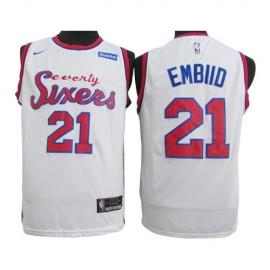 Camiseta Joel Embiid #21 Philadelphia 76ers 2020 Blanco