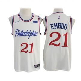 Camiseta Joel Embiid #21 Philadelphia 76ers 2020 Blanco City Edition