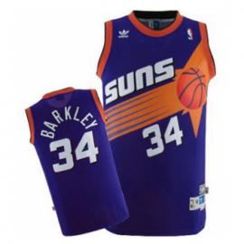 Camiseta Charles Barkley #34 Phoenix Suns Púrpura