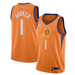 Camiseta Devin Booker #1 Phoenix Suns 2019/20 Naranja Statement Edition
