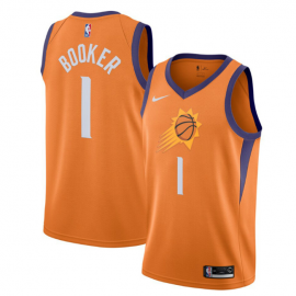 Camiseta Devin Booker #1 Phoenix Suns 2019/20 Naranja Statement Edition