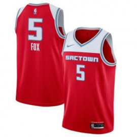 Camiseta De'Aaron Fox #5 Sacramento Kings 2019/20 Rojo City Edition