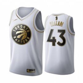 Camiseta Pascal Siakam #43 Toronto Raptors Blanco Gold Edition