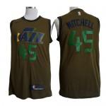Camiseta Donovan Mitchell #45 Utah Jazz 2018 Verde