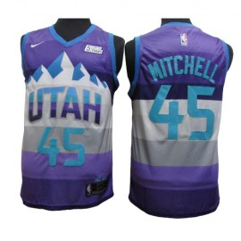 Camiseta Donovan Mitchell #45 Utah Jazz Purpura City Edition