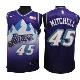 Camiseta Donovan Mitchell #45 Utah Jazz Purpura Classic Edition