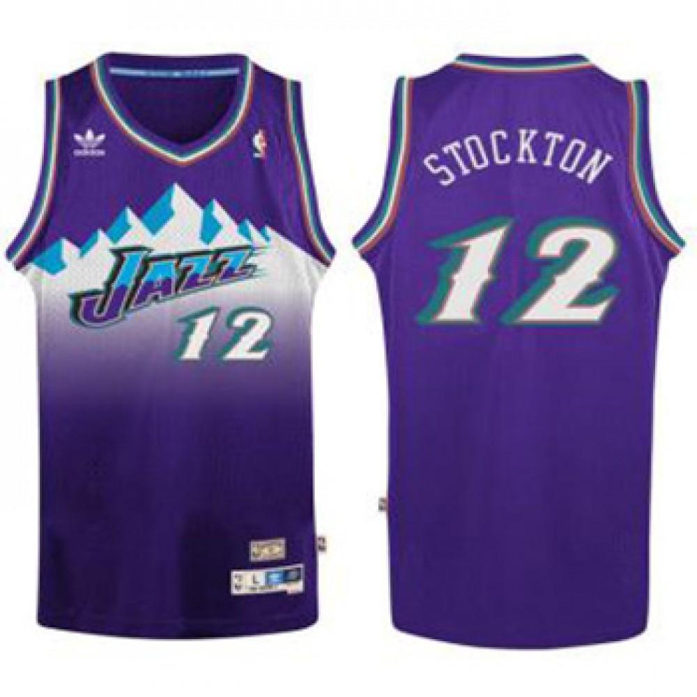 Camiseta John Stockton #12 Utah Jazz Purpura