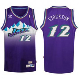 Camiseta John Stockton #12 Utah Jazz Purpura