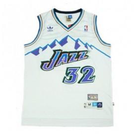 Camiseta Karl Malone #32 Utah Jazz Blanco