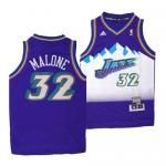 Camiseta Karl Malone #32 Utah Jazz Purpura