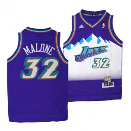 Camiseta Karl Malone #32 Utah Jazz Purpura