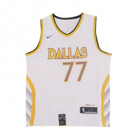 Camiseta Luka Doncic #77 Dallas Mavericks Blanco City Edition