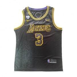 Camiseta Anthony Davis #3 Los Angeles Lakers 2020 Negro La Final