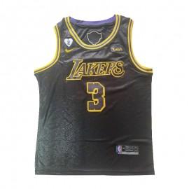 Camiseta Anthony Davis #3 Los Angeles Lakers 2020 Negro La Final