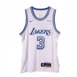 Camiseta Anthony Davis #3 Los Angeles Lakers 2021 Blanco City Edition