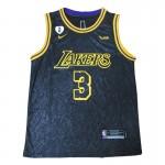 Camiseta Anthony Davis #3 Los Angeles Lakers 2021 Negro City Edition