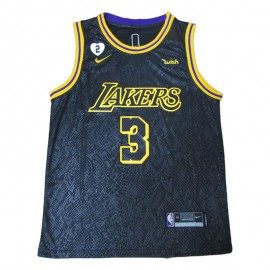 Camiseta Anthony Davis #3 Los Angeles Lakers 2021 Negro City Edition