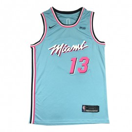 Camiseta Bam Adebayo #13 Miami Heat Azul City Edition